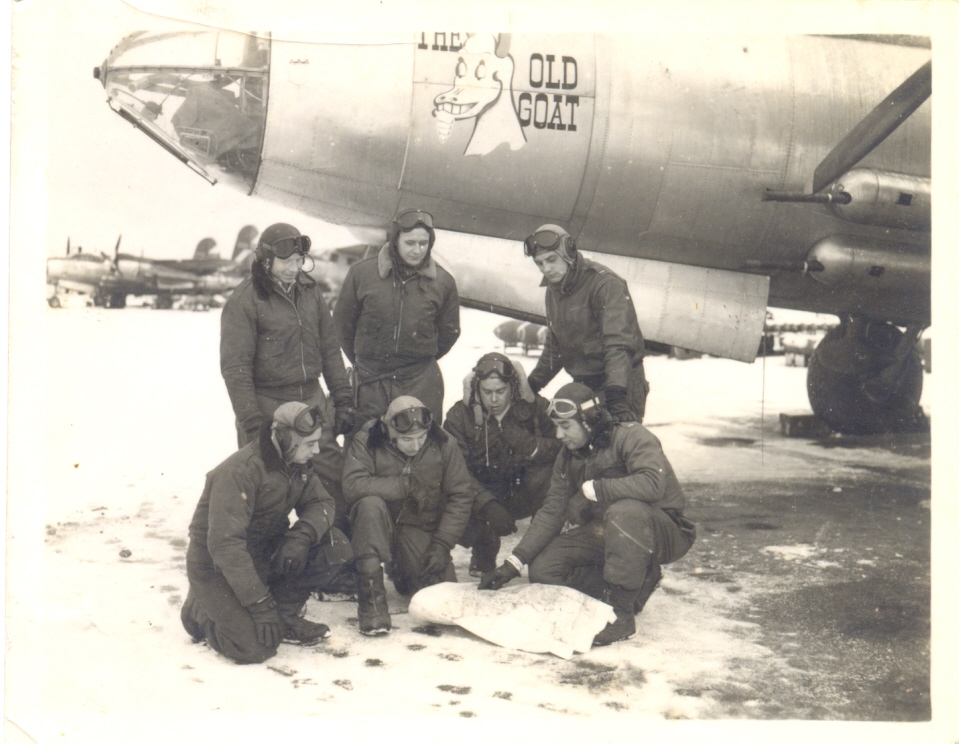 Eddie Brennan and crew Febr. 1945